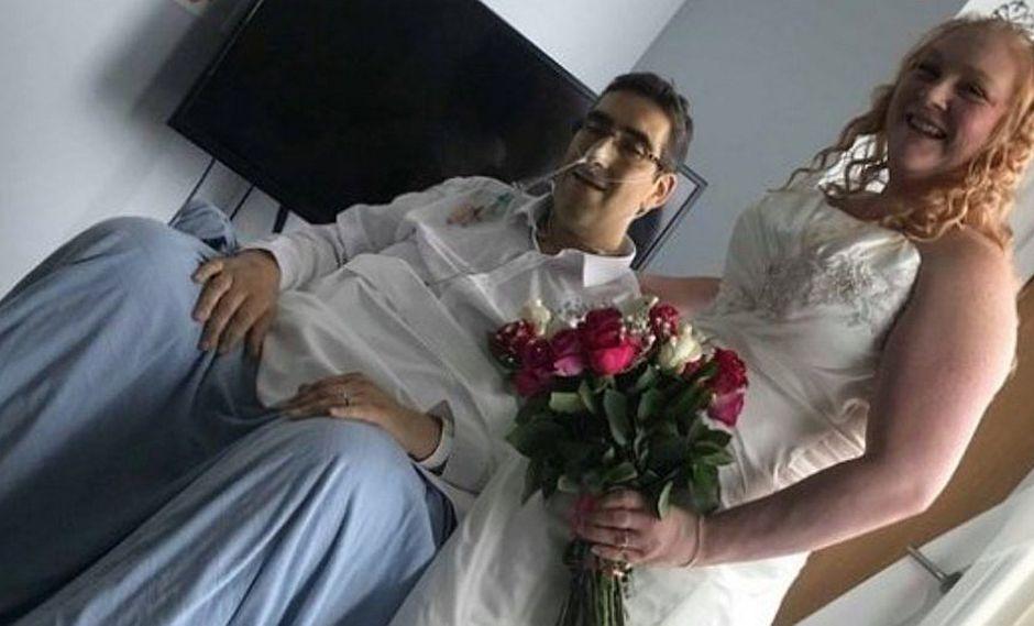 Pareja se casa, pero en cuestión de horas ella tuvo que darle el último adiós a su esposo