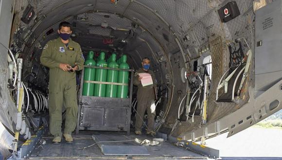 Áncash: Essalud dispuso el envío de 50 balones de oxígeno por vía aérea a la Red Asistencial de Huaraz, debido al bloqueo de carreteras por el paro nacional de transportistas de carga pesada. (Foto: Essalud)