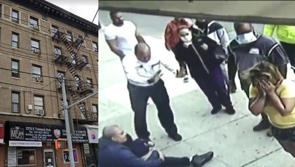 Un video viral muestra cómo un niño sobrevivió de milagro a una aparatosa caída desde el quinto piso de un edificio. | Crédito: Google Maps / CBS New York / YouTube