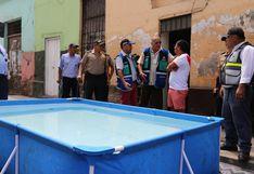Barrios Altos: Municipalidad de Lima retiró piscinas portátiles por obstruir calles | FOTOS