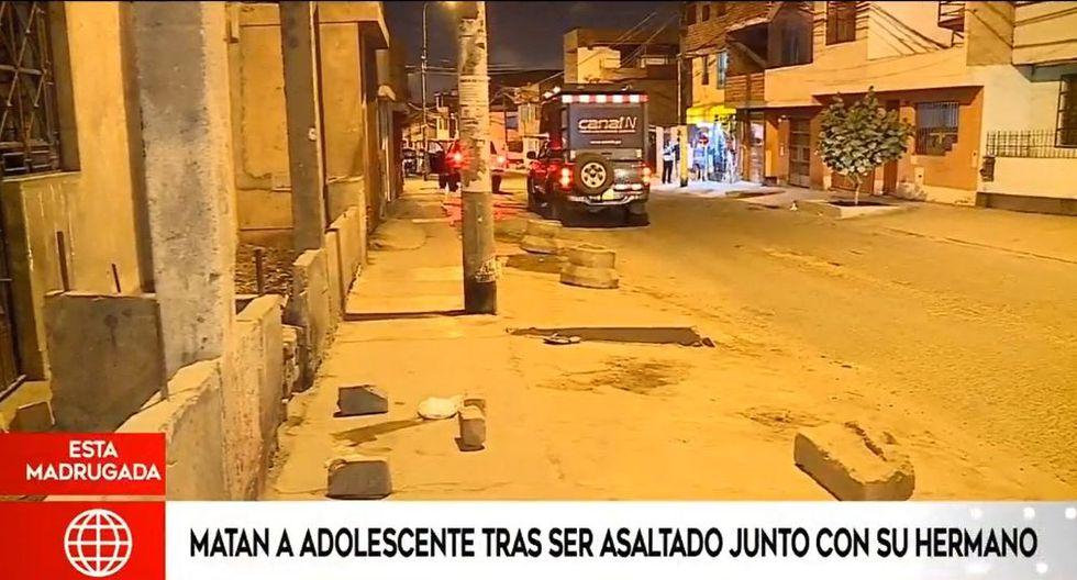 El menor de edad fue atacado en el cruce de las calles Pedro Silva con Felipe Arancibia en SJM. (Captura: América Noticias)