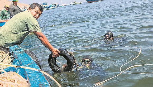 Tres toneladas de residuos fueron retirados en el Muelle de Ancón