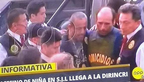 César Alva Mendoza llega a la Dirincri para rendir su manifestación
