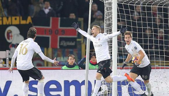 Milan, con 9 jugadores, gana en Bolonia por genialidad de Deulofeu
