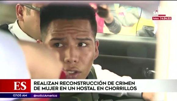 Aron Tejada se lanzó del segundo piso del hostal luego de dispararle a su pareja. (Foto captura: América Noticias)