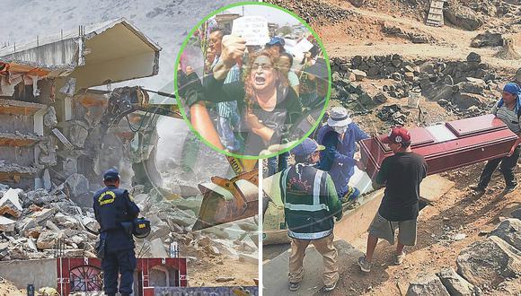 ¡Adiós mausoleo terrorista! Alcalde de Comas demolió polémico monumento funerario (FOTOS)