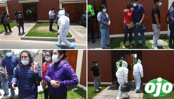 Peritos de criminalística realizan las diligencias en la vivienda del doble crimen. (Foto: Gonzalo Córdova)