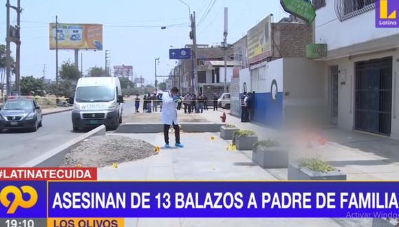 Peritos de criminalística cercaron la escena del crimen para recoger los casquillos de bala. (Foto: Latina)