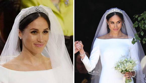 """Meghan Markle confiesa el """"secreto"""" que escondía su vestido de novia (FOTOS)"""