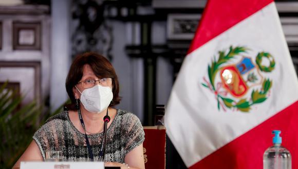 Pilar Mazzetti dijo que no pueden entregar libremente fármacos como la ivermectina para pacientes con COVID-19. (Foto: Presidencia Palacio)