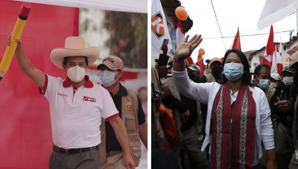 Castillo y Fujimori se miden en un último debate el 30 de mayo. (Fotos: GEC)