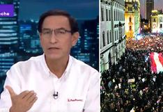 """Vizcarra sobre las marchas: """"El pueblo no ha salido a respaldarme, ha salido a defender la democracia"""""""