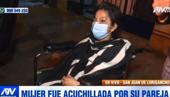 La víctima contó  que Guillermo Mallqui la citó para supuestamente orar en su casa, pero luego comenzó a increparle los problemas que tenían y le clavó el cuchillo en reiteradas oportunidades. (Foto: ATV)