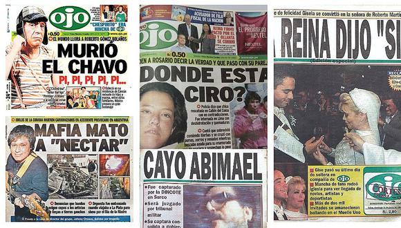 La historia del Perú en las portadas de Ojo en estos 50 años (VÍDEO)
