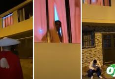 Novio le lleva serenata con mariachis a su amada y la encuentra con el amante   VIDEO