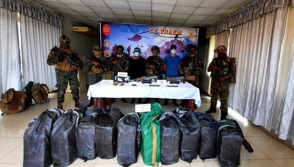 Cusco: el operativo de los efectivos militares y policiales se ejecutó en la localidad de Picha, en el Valle de los Ríos Apurímac, Ene y Mantaro. (Foto: Mininter)