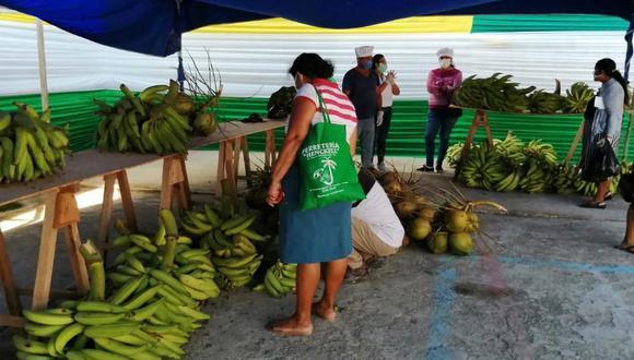 Tumbes. Mil familias se beneficiaron con la venta en el Mercado Minagri De La Chacra a la Olla. (Minagri).