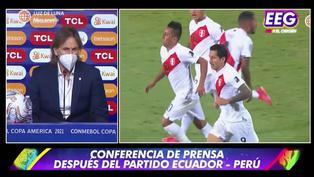 EEG: Conferencia de prensa de Ricardo Gareca tras empate contra Ecuador