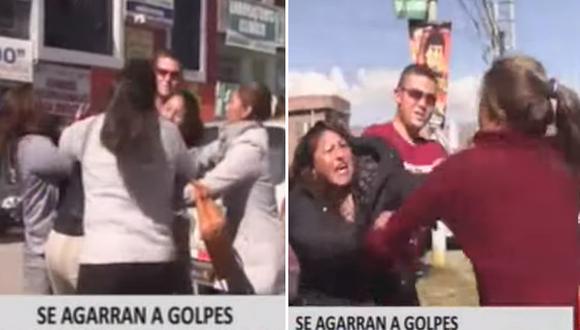 Trabajadoras de funerarias se disputan cliente a golpes frente a hospital│VIDEO
