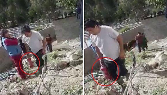 Pasco: exalcalde es denunciado de rociar químico de extintor a madre y su bebé (VIDEO)