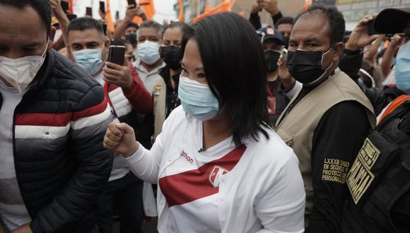 Keiko Fujimori realizó un mitin en el Parque Los Próceres de Barranca. (Foto: Renzo Salazar / @photo.gec)