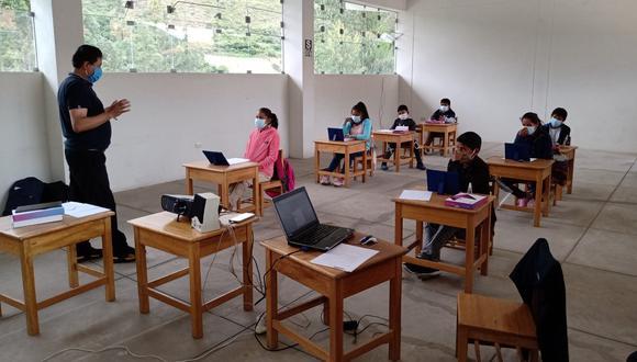 Colegios urbanos de 11 regiones volverán con las clases semipresenciales desde el próximo 9 de agosto. (Foto: Minedu)