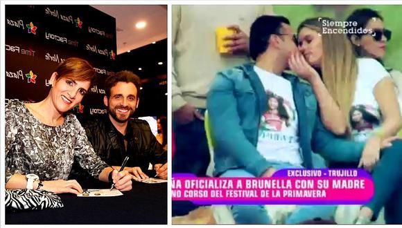 Rodrigo González 'raja' de besos entre Brunella Horna y Richard Acuña