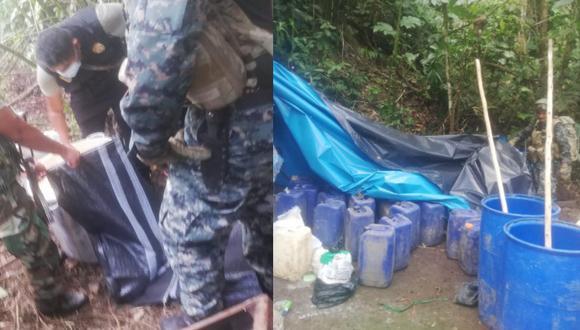 Ayacucho: comando y policías Vraem incautan 350 kilos de droga en estado sólido y líquido (Foto: Comando Conjunto)