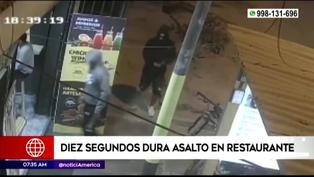 SJL: Malhechores roban en un restaurante en 10 segundos