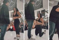 Actriz Bárbara de Regil se arrodilla y le pide la mano a su novio   VIDEO