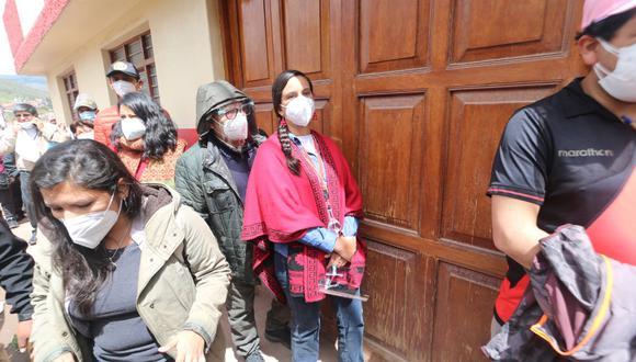 Cusco: Horas antes, la aspirante presidencial realizó su desayuno electoral junto a su esposo Jorge Millones y su familia. (Foto: Juan Carlos Sequieros)