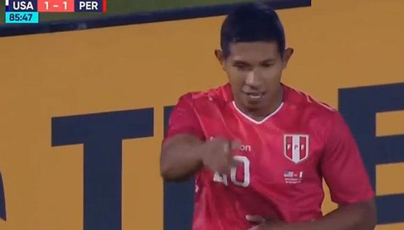 """Perú vs. EE.UU.: """"Oreja"""" Flores aparece y salva a Perú en el empate 1-1"""