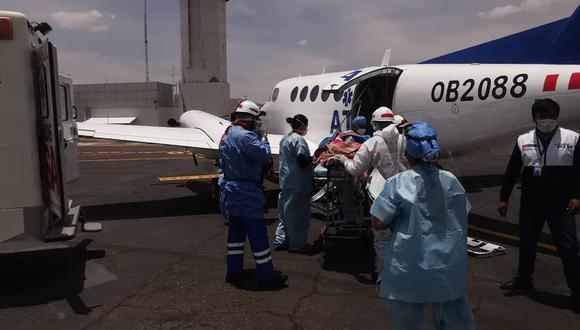 Puno: menor que padecía de aneurisma cerebral fue trasladada a Lima para ser atendida (Foto: Diresa Puno)