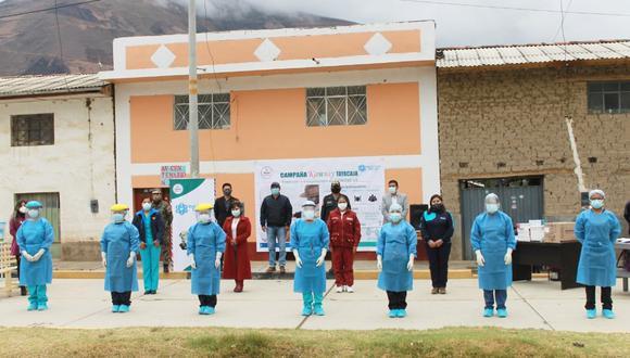 """Lanzan campaña """"Kawsay Tayacaja"""" que atiende a la población contra el COVID-19 (Foto: Diresa Huancavelica)"""