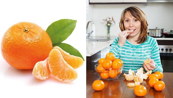 Mandarinas reducen la grasa corporal en el cuerpo, previenen la obesidad y el envejecimiento