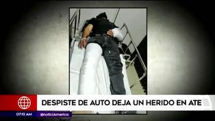 Accidente vehicular deja un herido en Ate