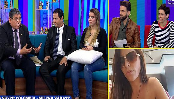 "Milena Zárate ""estalla"" con abogado que la denunció por caso de Greysi Ulloa"