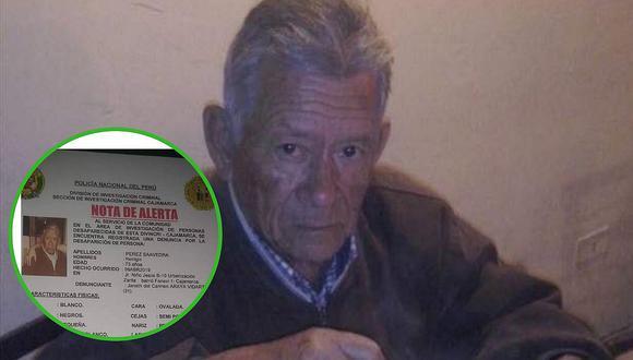 Familiares buscan a abuelito con Parkinson