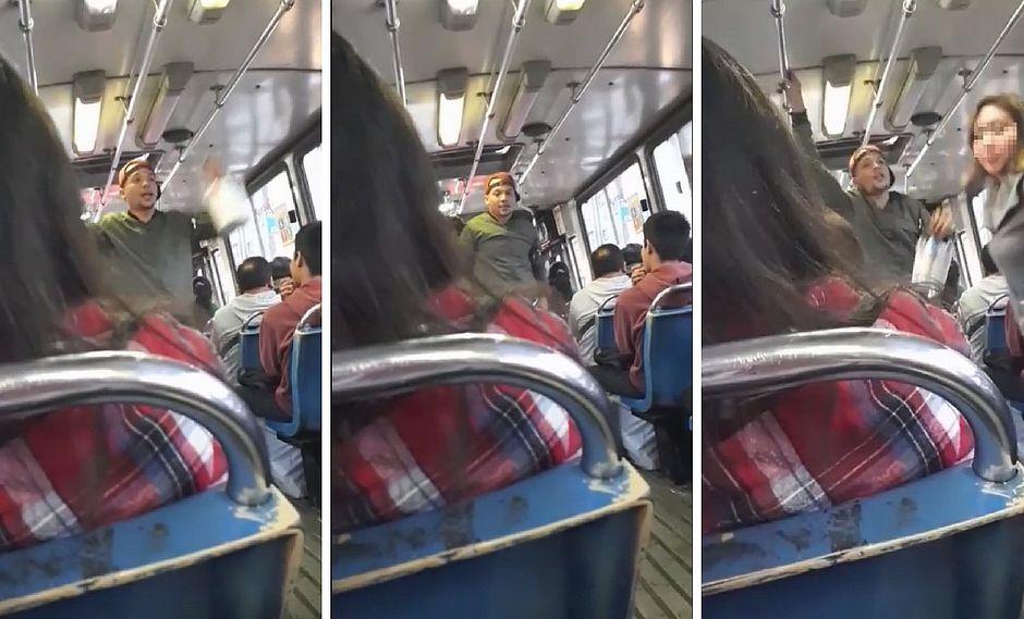 """Ambulante extranjero le responde a pasajero que lo trató mal en bus de """"Los Chinos"""" (VIDEO)"""