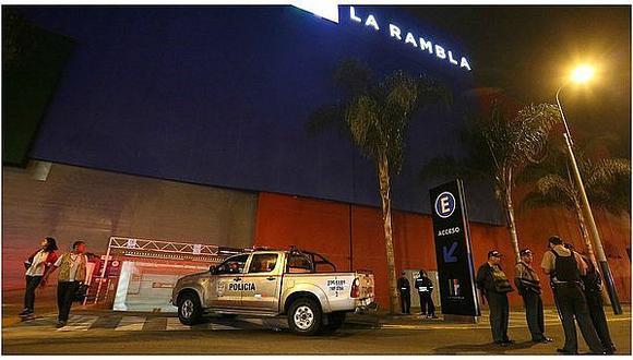 Asaltan en Centro Comercial La Rambla y se llevan caja fuerte