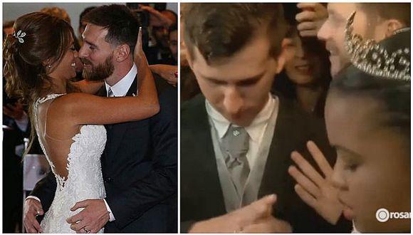 La boda de Messi y Antonella: el doble del astro del Barcelona se casó, pero en la calle (VIDEO)