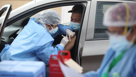 La vacunatón se realizó el último fin de semana en diferentes centros de inoculación en Lima Metropolitana y Callao. (Foto: Britanie Arroyo// @photo.gec)