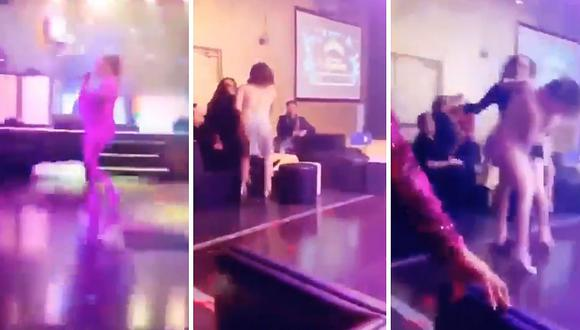 Mujer golpea a cantante que se acercó a su pareja (VIDEO)