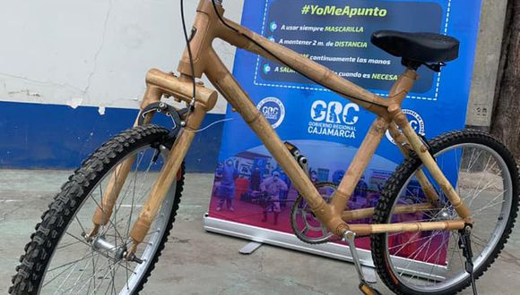 Cajamarca: presentan bicicleta de bambú como vehículo de transporte alternativo (Foto difusión).