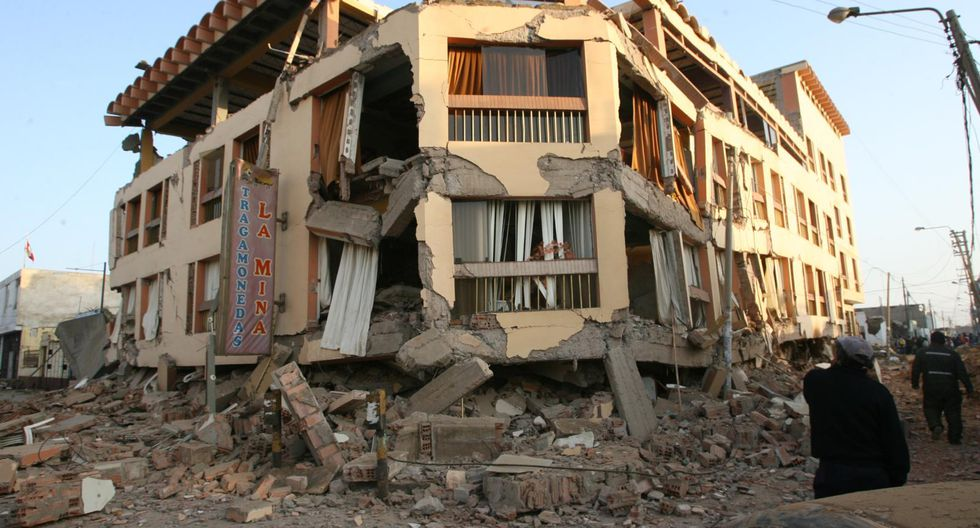Casa destruida tras terremoto en Ica | GEC
