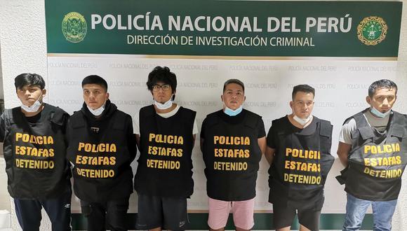 Estos son los seis detenidos sindicados como los 'cerebros' de los robos cibernéticos cometidos en los últimos tiempos.