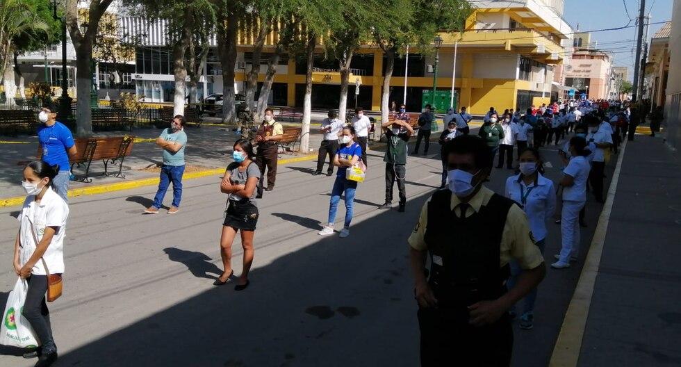El 21% de los 386 trabajadores de farmacias, bancos y otras entidades de la ciudad de Piura que fueron tamizados está infectado con el nuevo coronavirus. (Foto: Municipalidad de Piura)
