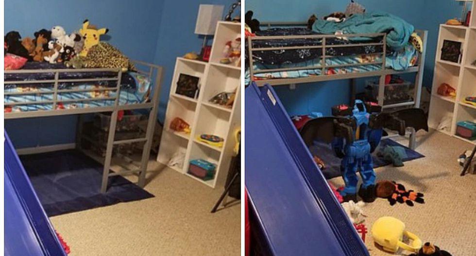 Padre llega a su casa y se da cuenta que un extraño se metió para limpiar | FOTOS