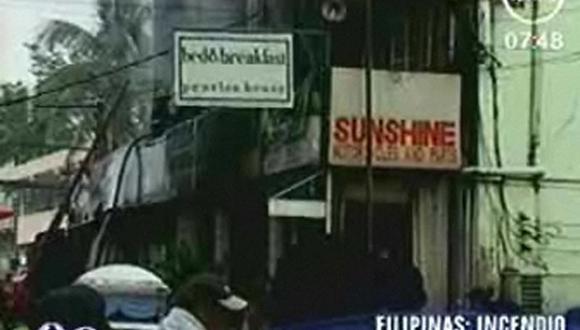 Filipinas: incendio ocasiona la muerte de 15 personas
