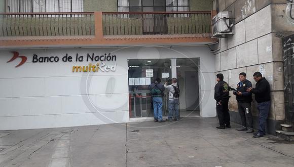 Banco de la Nación de Magdalena fue asaltado por banda de delincuentes